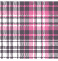Pink plaid pattern graphic vector