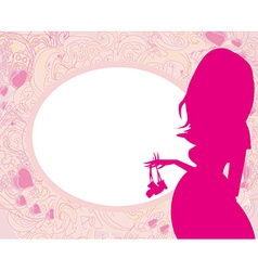 pregnant woman card vector image