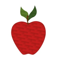 red apple with abstract texture vector image
