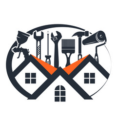 Repair and maintenance house with a tool vector