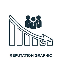 reputation decrease graphic icon mobile app vector image