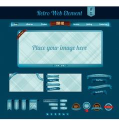 retro web element 3 vector image