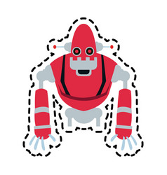 robot technology icon image vector image