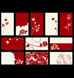 roses designs vector image