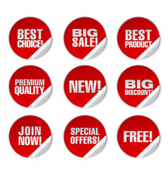Round advertising stickers vector