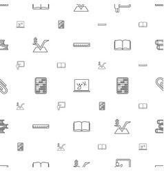 school icons pattern seamless white background vector image