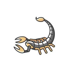 scorpio zodiac sign rgb color icon vector image