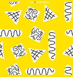 seamless primitive ethnic pattern vector image