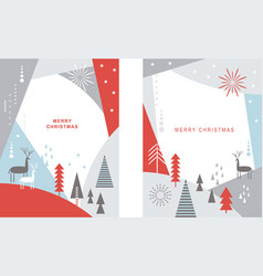 set christmas cards banners vector image