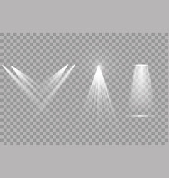 set of spotlights light effect vector image