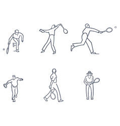 Set of tennis vector