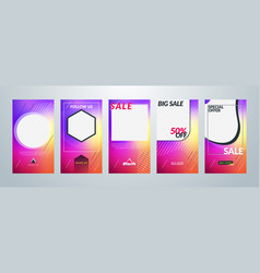 set templates for social media stories vector image