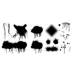 spray graffiti stencil template vector image