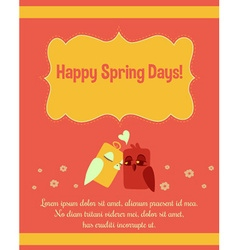 Spring background design vector