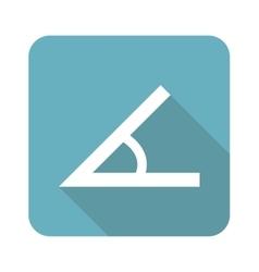 Square angle icon vector