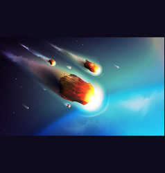 stock meteorite comet vector image