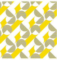 stripes and circles minimalistic seamless pattern vector image