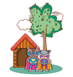 superhero animals cartoons vector image