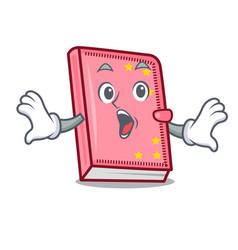 Surprised diary mascot cartoon style vector