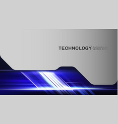 Technology background with light line movement vector