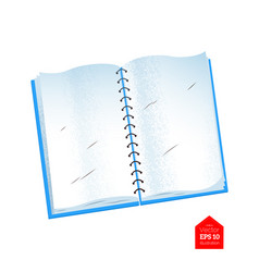 top view of opened notebook vector image