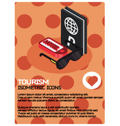 tourism color isometric poster vector image