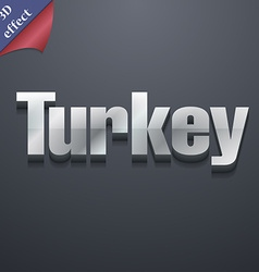 Turkey icon symbol 3D style Trendy modern design vector