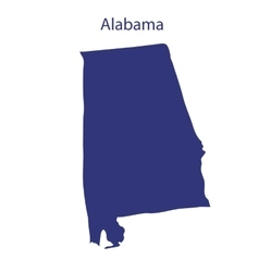 United States Alabama vector image