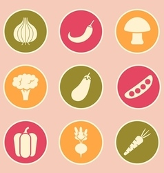 vegetable icon vector image
