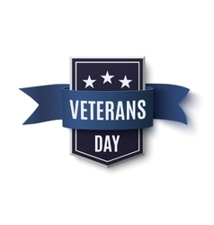 Veterans day background template on white vector