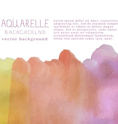 watercolor background with text and signa vector image vector image