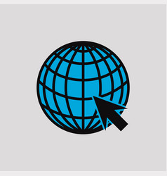 Web icons with concept a globe and arrow vector