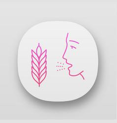Wheat allergy app icon vector