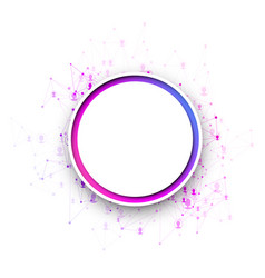 White round communication background with colorful vector