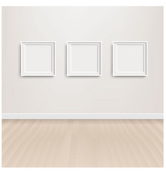 white scandinavian room interior and picture vector image