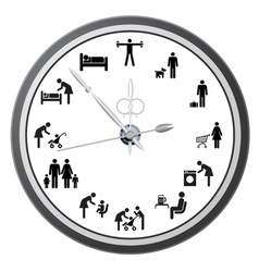 working day clock vector image