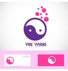 Yin yang meditation logo vector