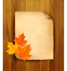 autumn leaves paper vector image vector image
