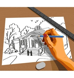 hand drawing vector image vector image