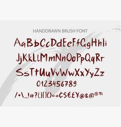 handwritten brush font hand drawn brush style vector image vector image