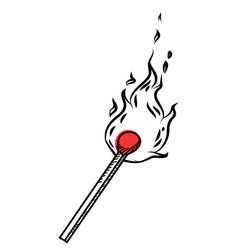 match stick doodle vector image