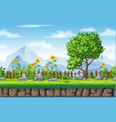 seamless summer nature background with separate vector image