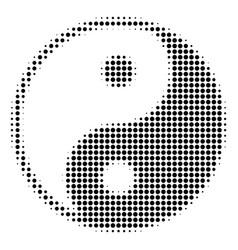 yin yang halftone icon vector image