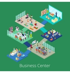 Isometric Business Office Center Building Interior vector image