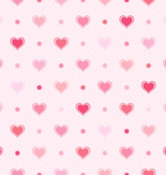 Pink retro seamless pattern Hearts and dots vector image