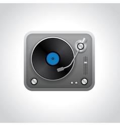 Realistic turntable vector