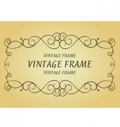 swirl vintage frame vector image vector image