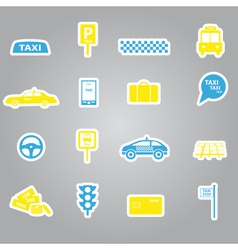 taxi stickers set eps10 vector image vector image