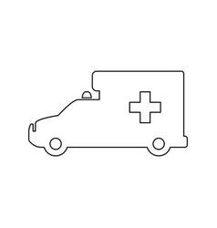 ambulance emergency vehicle vector image