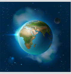 blue planet earth vector image vector image